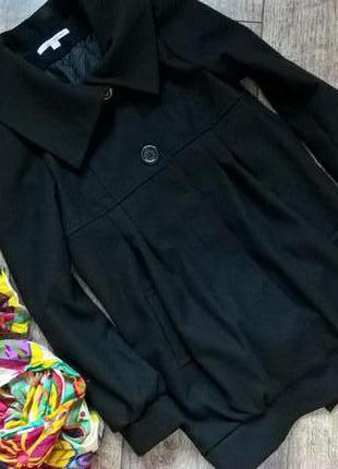 Черное фирменное демисезонное пальто от tally weijl-l-ка