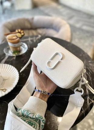 Сумка marc jacobs mj snapshot camera bag белая full white