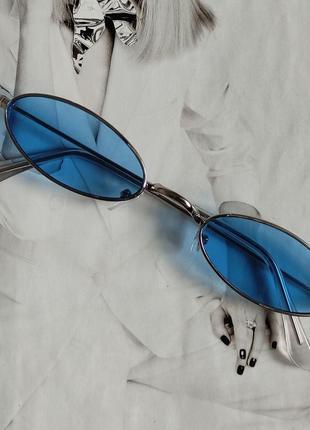 Солнцезащитные очки маленький овал голубой