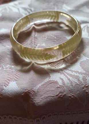 Браслет из эпоксидной смолы эпоксидка папоротник украшения из ювелирной смолы