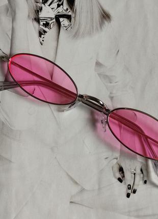 Солнцезащитные очки маленький овал розовый