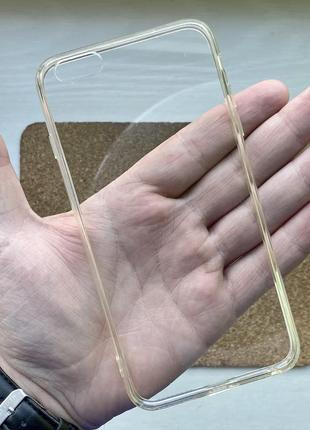 Чехол прозрачный чохол на для айфон iphone 6 + s plus силиконовый