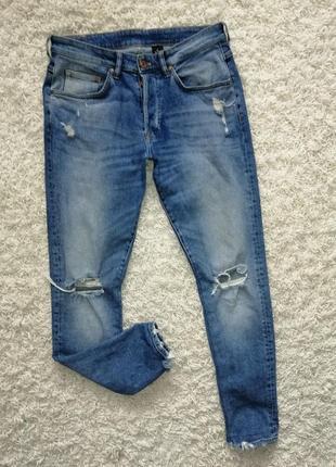 Стильные рваные мужские джинсы скинни h&m 32 в прекрасном состоянии