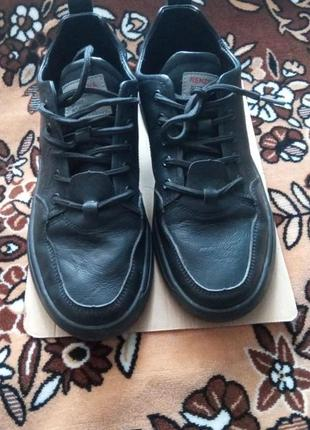 Удобные мужские кроссовки, кожа.