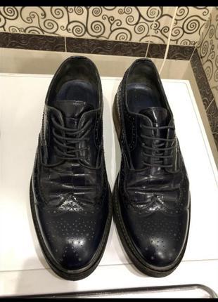 Стильные мужские броги giardini  оригинал, лофер, туфли