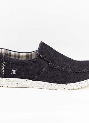 Мужские туфли, мокасины слипоны премиум ziano h006050р. 40-46р. чорные