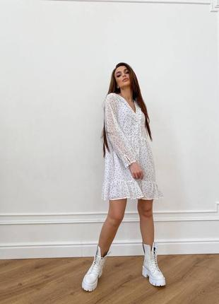 Шифоновое платье (все расцветки)