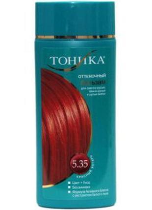 """Тоника оттеночный бальзам для волос """"красный янтарь"""" 5.35, 150мл"""