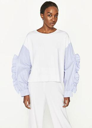 Zara оригинал!!!стильний пуловер рs
