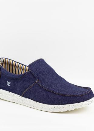 Мужские туфли, мокасины слипоны премиум ziano h006052р. 40-46р. темно-синие