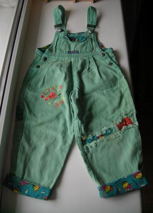 Комбинезон джинсовый на 3-4 года