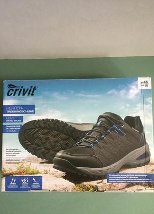 Стильные трекинговые кроссовки от бренда crivit, размер 44.