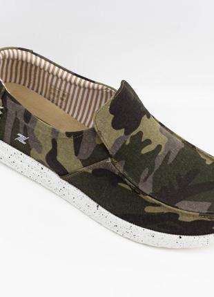 Мужские туфли, мокасины слипоны премиум ziano h006051р. 40-46р. хаки