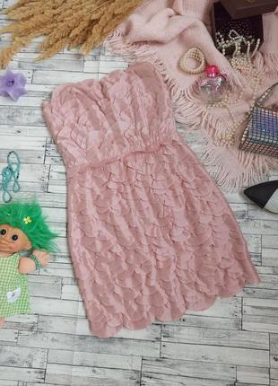 Вечернее мини платье бандо с лепестками🍀ax paris