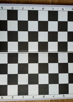 Доска шашки шахматы игровое поле картон