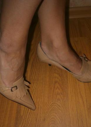 Интересные кожаные туфли/кожа 27 см