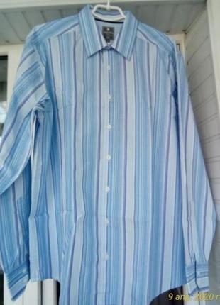 Брендовая коттоновая рубашка брльшого размера батал
