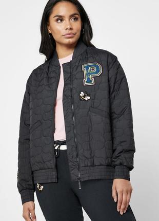 Легкая чёрная курточка ветровка puma из коллекции коллаборации