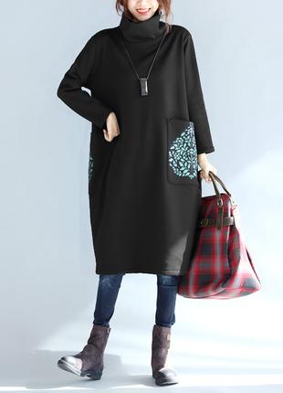 Очень ситльное платье туника большой размер