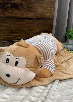 Игрушка - плед подушка - обезьянка