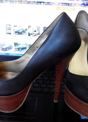 Туфли женские итальянские rebecca miu кожаные высокий каблук