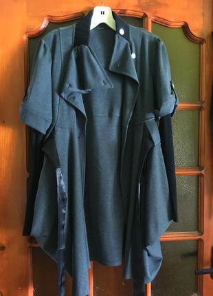 Платье на завязке кардиган