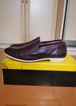 Стильные кожаные мужские туфли1 фото