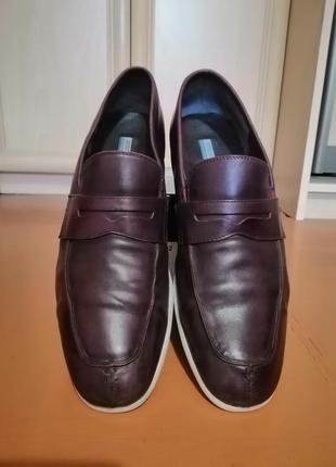 Стильные кожаные мужские туфли3 фото