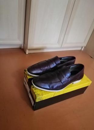 Стильные кожаные мужские туфли2 фото