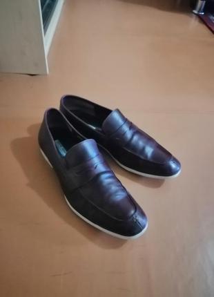 Стильные кожаные мужские туфли4 фото