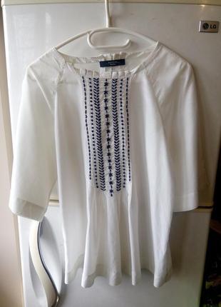 Шелковая блуза вышиванка, 36-38