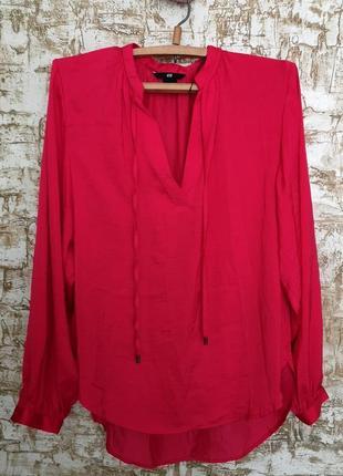 Блуза h&m малинового цвета