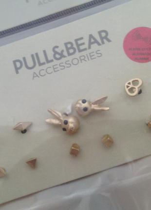 Серьги гвоздики pull & bear