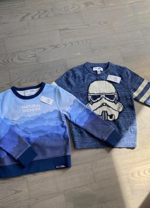 Новые с биркой gap кофта свитер свитшот star wars с начесом