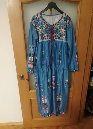 Длинное платье , one size