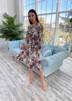 Платье в любимой длине миди
