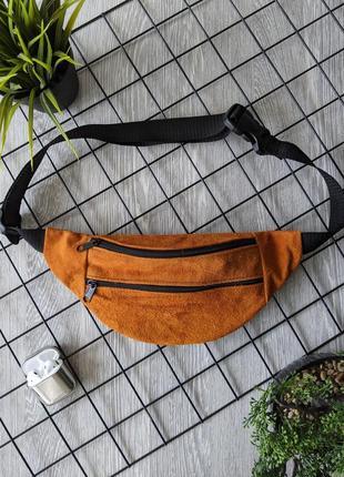 Мини сумочка бананка барсетка эко спортивная,повседневная городская яркая б37