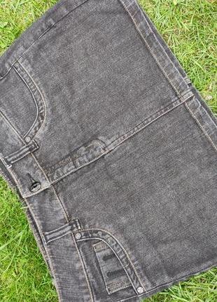 Стильная джинсовая мини юбка