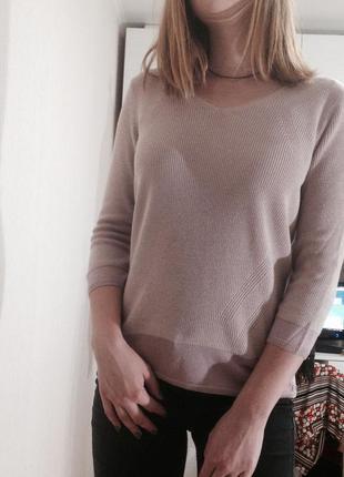 Нюдовый джемпер размер 12 свитер пуловер кофта
