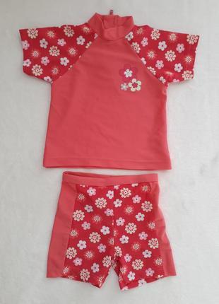 Купальный костюм matalan (купальник) футболка +шорты