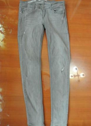 Распродажа! стильные серые джинсы