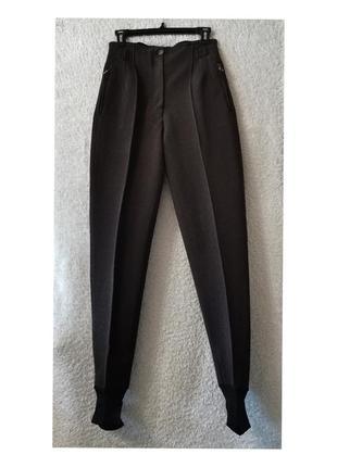 Брюки штрипки высокая посадка шерсть винтаж штаны со штрипками post card