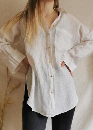 Базовая льняная рубашка