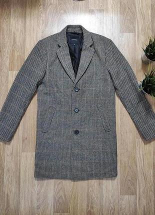 Пальто мужское в клетку классика jessica (c&a)