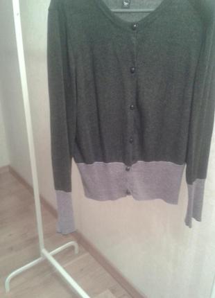 Серый кашемировый пуловер folgore milano