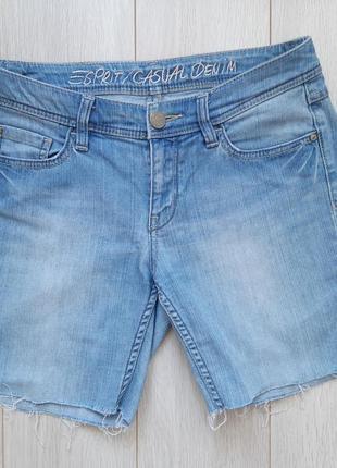 Голубые джинсовые шорты esprit