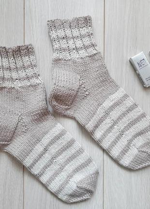 Вязаные носки - ручная работа