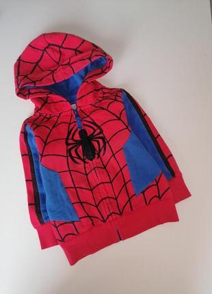 Флисовая толстовка на молнии spider man c&a marvel 2 года 92см