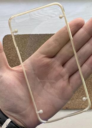 Чехол прозрачный чохол на для айфон iphone 6 + s plus плюс силиконовый