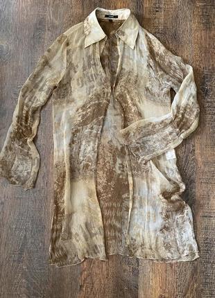 Шёлковый кардиган пляжная накидка из шелка блуза шелковая платье рубашка